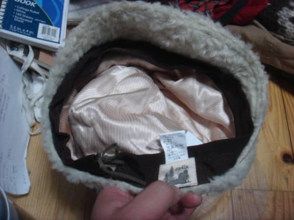 1702カシラCA4LAツバ皮革レザー フェイクファーCAPキャスケット帽子キャップ パイル_画像3
