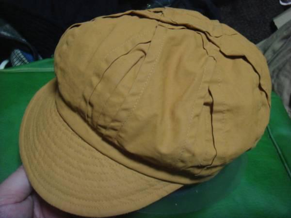 1702カシラCA4LAリネン麻ヘンプHEMPツイルTWILLプリーツ ワークキャップWORKドゴール帽子CAPキャスケット_画像1