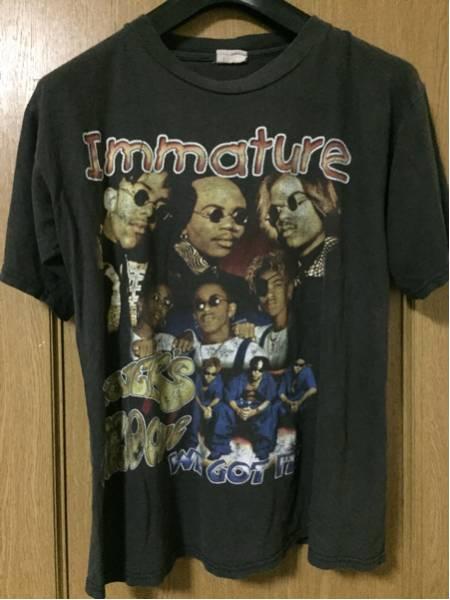 レアRAP tee Immature ビンテージTシャツ