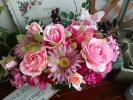 薔薇*ラナンキュラス*ガーベラ*木箱のアレンジメント