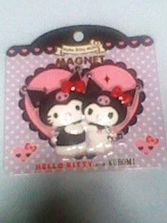 クロミ kuromi ハローキティ マグネット HUG 新品 グッズの画像