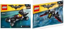 ミニ・バットモービル&バットウィング 30521 30524 バットマン・ムービー ポリバッグ レゴ LEGO