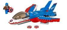 キャプテン・アメリカとジェット機 76076 アベンジャーズ マーベル・コミック スーパー・アダプトイド レゴ LEGO
