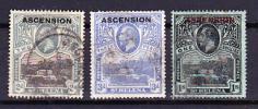 アセンション島 1922年セントヘレナに加刷3種済