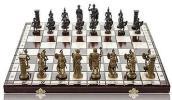 【木製チェスセット / 50センチ・チェス盤&チェス駒 】ローマ帝国