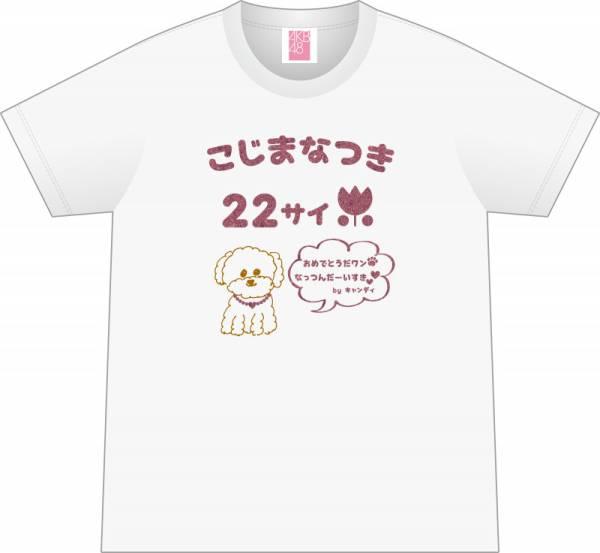 AKB48 小嶋菜月 デザイン2017生誕記念Tシャツ 生写真付 ライブ・総選挙グッズの画像