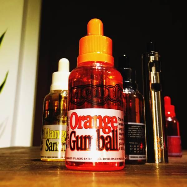 話題のフィリピン産 VAPE(電子タバコ)リキッド! Orange Gumball★新品★大容量55ml★E-Juice,Liquid