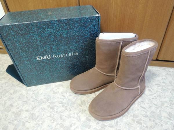 新品 EMU エミュー 防水ムートンブーツ ブラウン 23センチ定価3万円