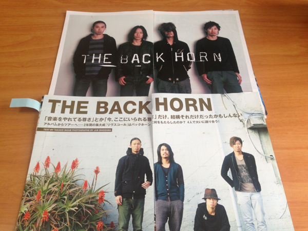 THE BACK HORN 切り抜き 17枚