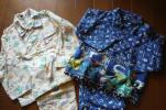 男児用パジャマ二組セット☆サイズ100&110☆入園準備・ボタンかけの練習に