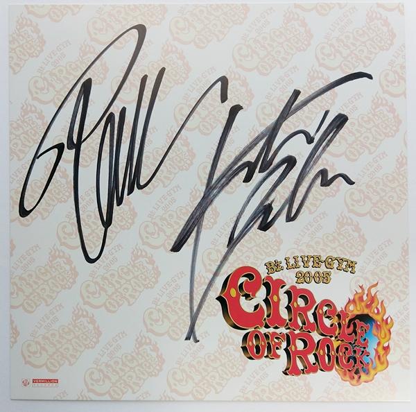 B'z サイン色紙 LIVE-GYM2005 CIRCLE OF ROCK 送料無料