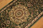 廊下敷きサイズ ランナーマット ( レジェンド1 ) 約80х330cm グリーン ペルシャデザイン トルコ製 ウィルトン織