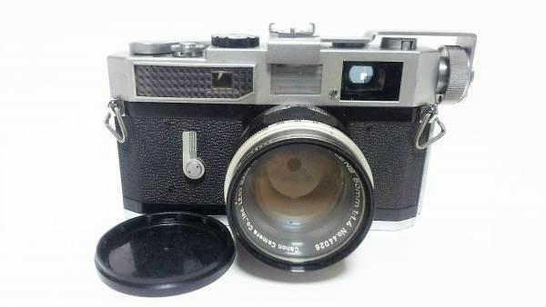 [84] CANON キャノン 7 カメラ + 50mm 1:1.4 レンズ