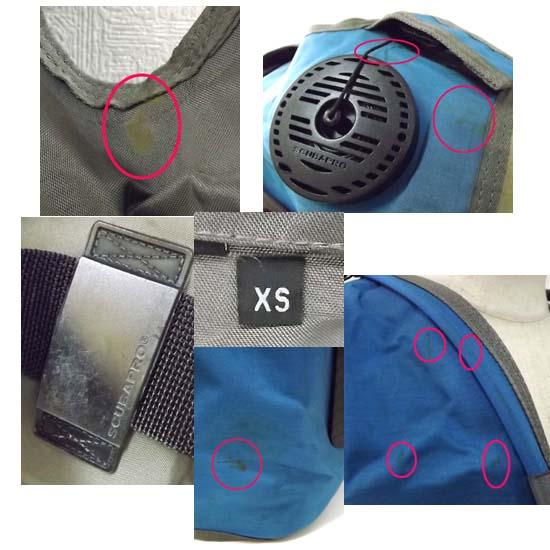 SCUBAPRO/スキューバプロ FINSEAL/フィンシール BCジャケット A.I.R.2/エアⅡ装備 XSサイズ 札幌市 西岡店発_キズやスレ、取りきれない汚れあり