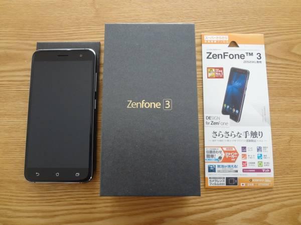 国内版 ASUS Zenfone3 ZE520KL-BK32S3 SIMフリー 新品同様です。おまけで液晶保護フィルム付!_画像3