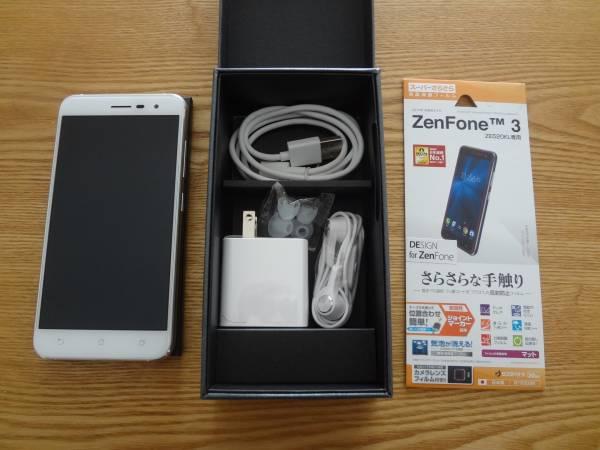 国内版 ASUS Zenfone3 ZE520KL-WH32S3 SIMフリー 新品同様です。おまけで液晶保護フィルム付!