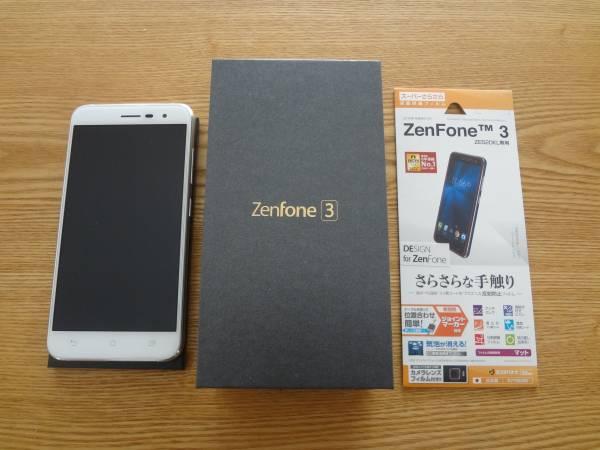 国内版 ASUS Zenfone3 ZE520KL-WH32S3 SIMフリー 新品同様です。おまけで液晶保護フィルム付!_画像3