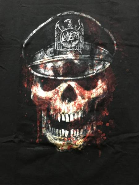 Slayer オフィシャルライセンスT 中古美品 M anthrax metallica megadeth ライブグッズの画像