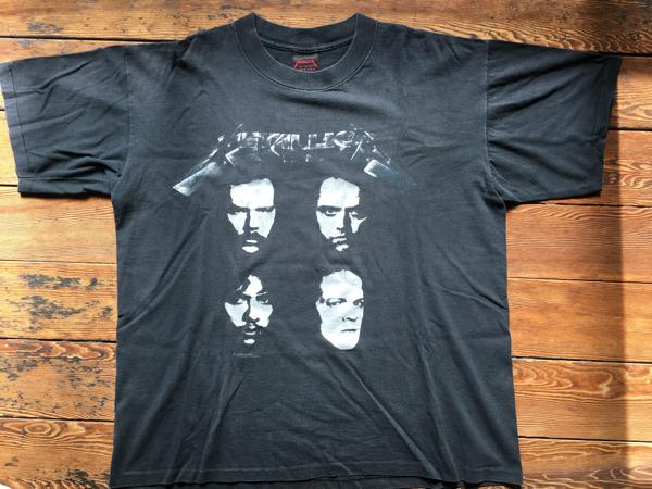 Metallica BlackAlbam tour Tシャツ中古美品XL anthrax slayer megadeth ライブグッズの画像