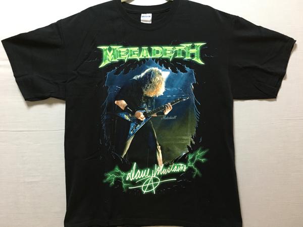 Megadeth 2009tourTシャツ 中古美品 L metallica anthrax slayer ライブグッズの画像