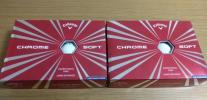 【新品】 キャロウェイ Callaway CHROME SOFT クロムソフト 白 2ダース