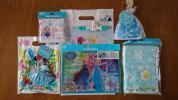 フローズンファンタジー アナと雪の女王 ディズニーランド フェイスタオル ハンドタオル2 クリアホルダーセット 携帯クリーナー クリップ