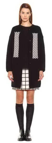 新品78%OFF マックスマーラ Max Mara デザインスカート ブラック×ホワイト 38サイズ_画像3