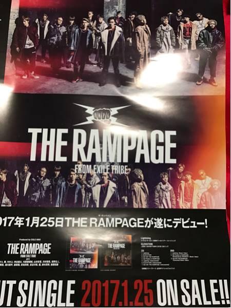 THE RAMPAGE DEBUT SINGLE 告知ポスター新品 EXILE TRIBE