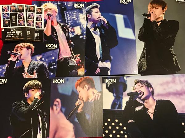 iKON 会場購入特典BIGポストカード 7枚+ステッカー3枚セット新品