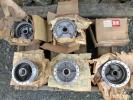 ホンダC100系カブ用スポークホイール用ハブ未使用保管品 4個?+1個中古品?ドラムハブ計5個 ホイールハブ