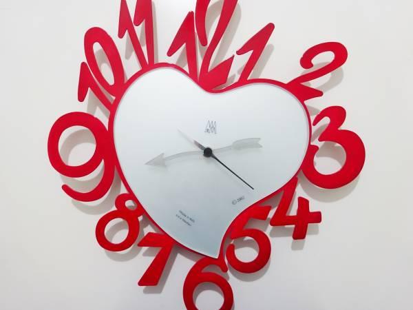 Arti & Mestieri アルティ・エ・メスティエリ Bum-Bum バンバン ハート 赤 壁掛け時計 ウォールクロック