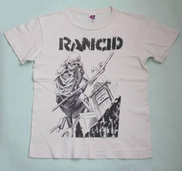 【RANCID】ランシド ツアー Tシャツ 白 JAPANツアー2007 バンドTシャツ スカルプリント 古着