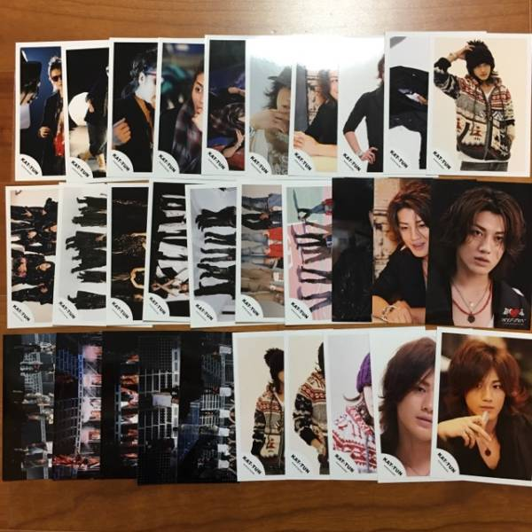 即決¥1000★KAT-TUN 公式写真 2377★赤西仁 まとめて 30枚セット