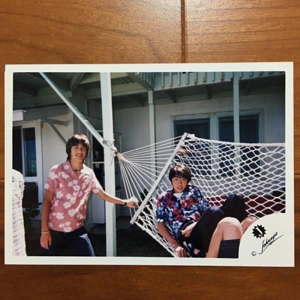 即決¥1500★嵐 公式写真 2422★相葉雅紀 滝沢秀明 ハンモック 可愛い 貴重 Jr.時代 Jロゴ