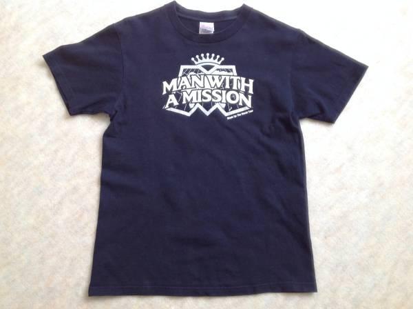 MAN WITH A MISSION 2012年ツアーTシャツ 160サイズ/ネイビー/ツアーグッズ/中古/誤字ありver.