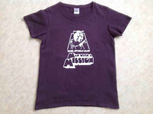 MAN WITH A MISSION 2013年 WAKE MY SELF AGAINツアー ウルフTシャツ WLサイズ/グッズ/中古