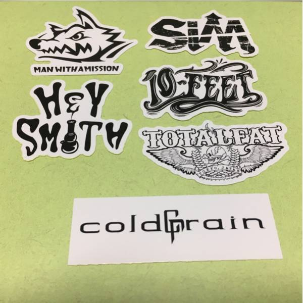 SiM coldrain HEYSMITH TOTALFAT MANWITHAMISSION 10-FEET 非売品 ステッカー