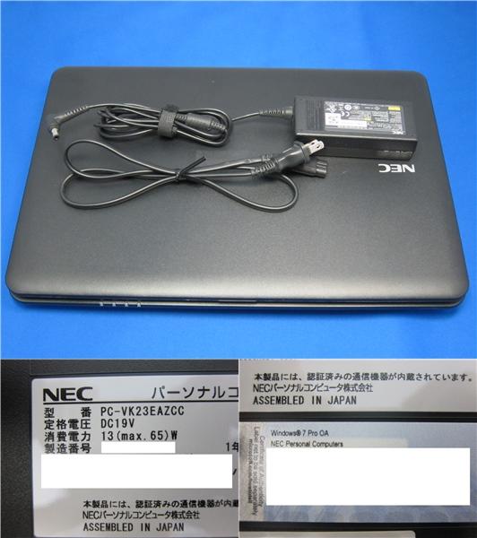 NEC VersaPro VA-C PC-VK23EAZCC Windows7 ノートパソコン  ◆57_画像3