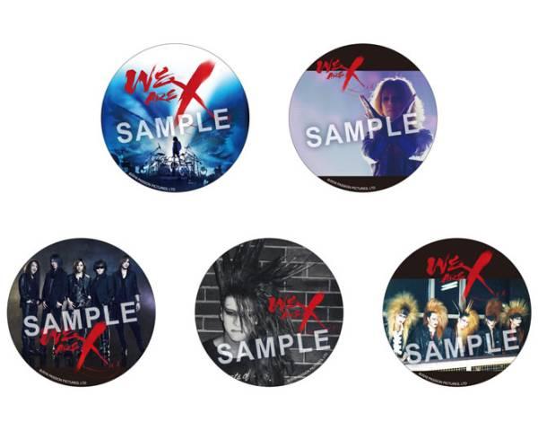 X JAPAN WE ARE X  缶バッジ 全5種コンプセット おまけ音源付き 第二弾入場者特典