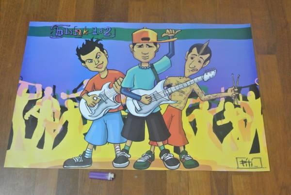 送料290円●新品 89cm ポスター ★ブリンク182 Blink-182 トラヴィス バーカー FAMOUS フェイマス ドラム punk パンク c