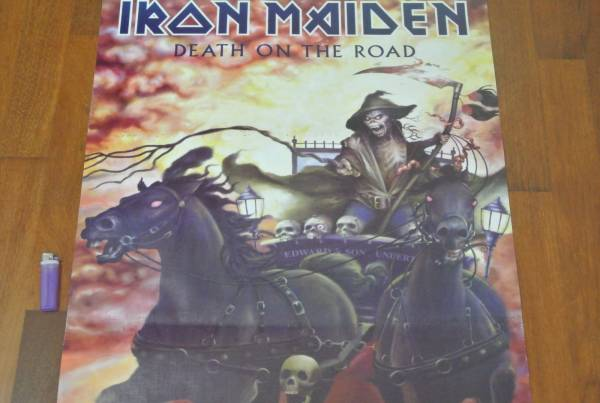 送料290●新品 89cm ポスター アイアンメイデン IRON MAIDEN Metal メタル c