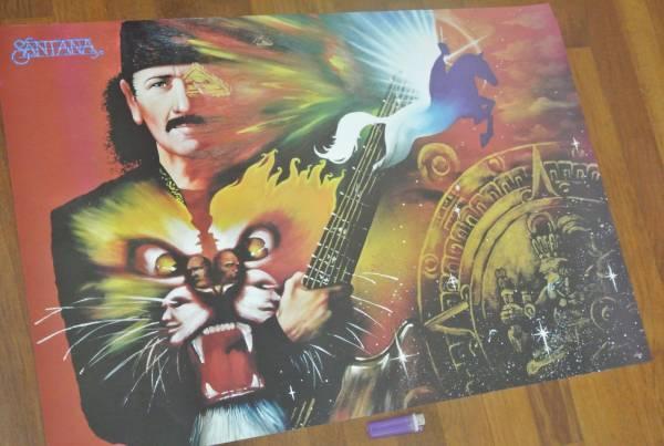 送料290円●新品 89cm ポスター サンタナ Santana ギター a
