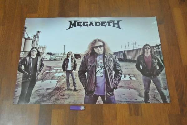 送料290●89cmポスター メガデス Megadeth ヘビメタ metal メタルrock ロック e