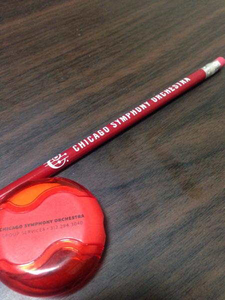 シカゴ交響楽団鉛筆&消しゴム付き鉛筆削り
