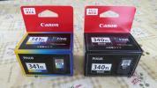 キャノン 純正インク 340XL +341XL増量タイプ2個セット期限18年