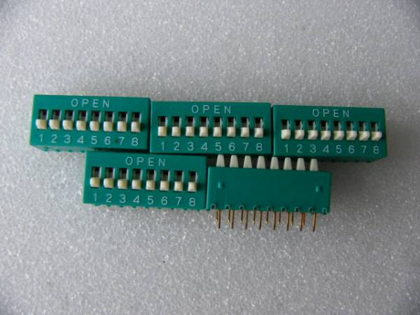 2,54mmピッチ 8P ディップスイッチ 5個セット 未使用品_画像2