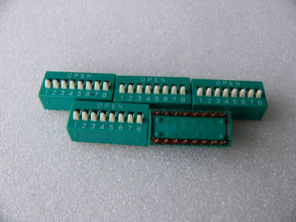 2,54mmピッチ 8P ディップスイッチ 5個セット 未使用品_画像1
