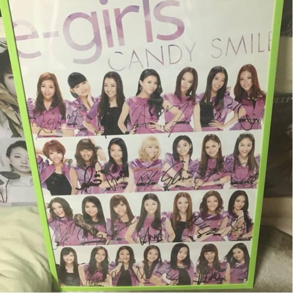 E-girls 直筆サイン入りポスター 2