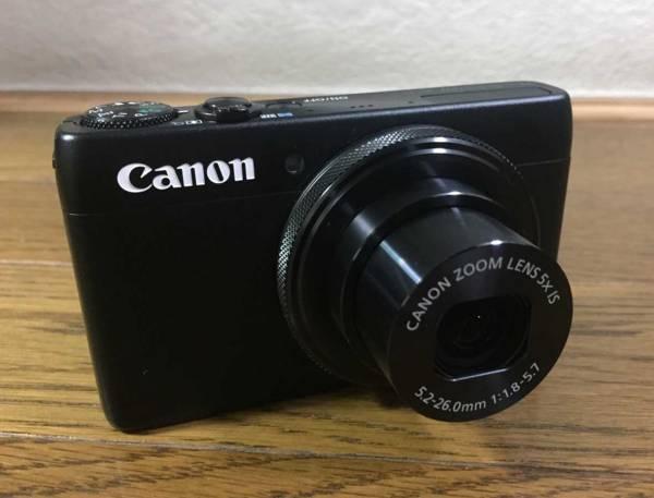 中古美品☆Canon コンパクトデジタルカメラ PowerShot S120(黒)/予備バッテリー付