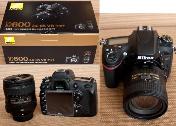 美品 Nikon D600 24-85mm F3.5-4.5G ED VR キット